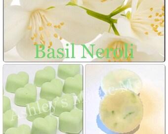 3 basil neroli jo malone soy wax melts, strong scented wax melts, cheap melts, wholesale wax melts, wax tart melts, designer dupe melts