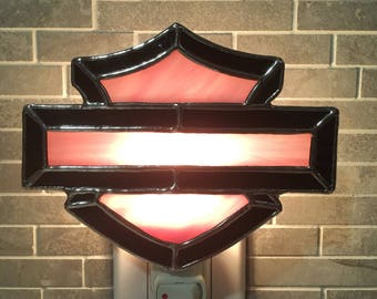 Stained glass Nightlight Harley