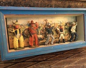 Vintage Armless Cowboy Diorama