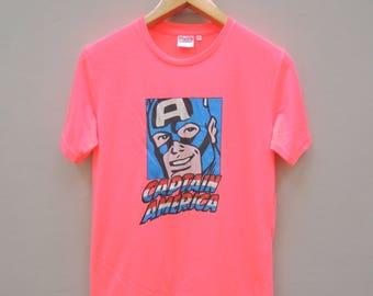 Vintage Captain America Superhero T Shirt Marvel Size M