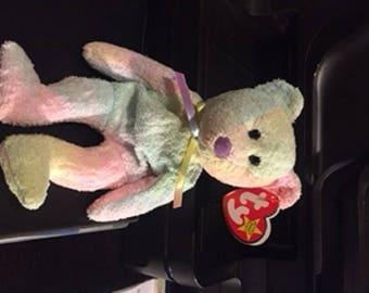 RARE Ty Beanie Baby Groovy Bear