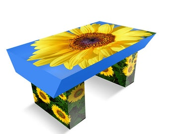 Corrugated Sunflower Coffee Table