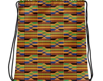 Kente Drawstring bag