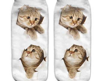 Cute Kitten Baby Cat Kaus kaki Hosiery Meias Calcetiness Calzini Chaussette cute low ankle cut socks High Quality Material