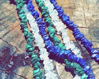 Genuine gemstone necklaces