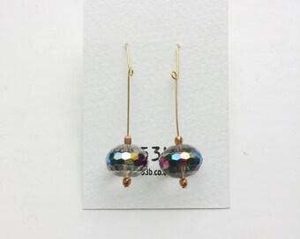 Czech crystal bead earring #252