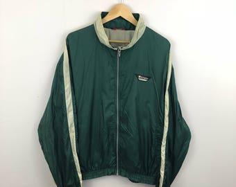 Champion Full Zip Windbreaker Size Large Green