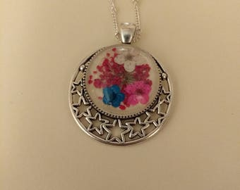 Handmade Dried Floral Necklace