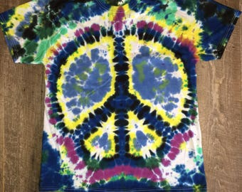 Iced tie dye. Peace sign
