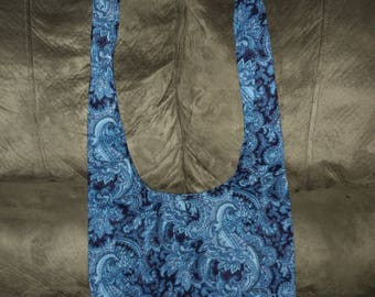 Blue and black beautifully designed purse, carry bag.