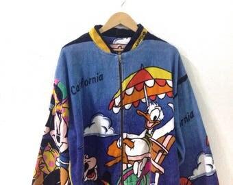 On Sale !!Vintage sweater carlifornia / vintage sweater mickey family/vintage disney/rare colour/rare design
