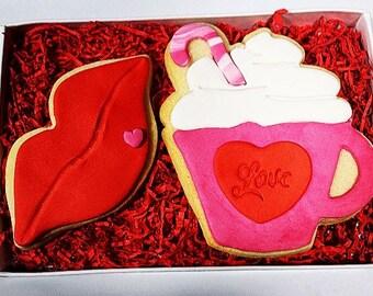Kiss and Valentine's day mug