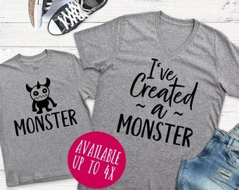 Mom and Me Shirts | Mom and Me | Mom and Me Tees | Mommy and Me T-Shirts | I've Created a Monster | Mommy and Me | Mom and Me Tee |