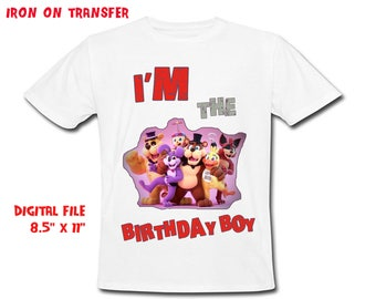 Five Night At Freddys - Iron On Transfer - Birthday Boy - Freddys Boy Birthday Shirt Design - DIY Shirt - Digital Files - Instant Download