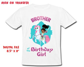 Nella - Iron On Transfer - Brother - Nella Brother Birthday Shirt Design - DIY Shirt - Digital Files - Instant Download