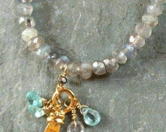 Labradorite & Apatite necklace