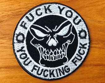 New Embroidered Patch Iron on Or Sew, Funny Patch, Badge,Biker