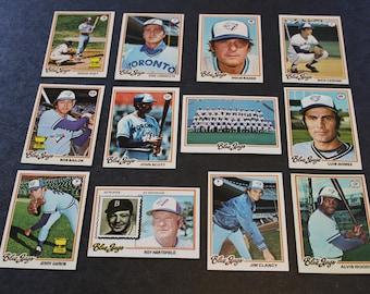 1978 Topps Toronto Blue Jays 12 Cards