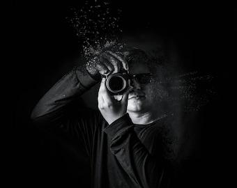 Disintegrated Photography Boy
