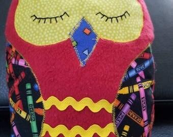 Stuffed Owl / Plush Owl / Soft Owl / Baby Gift / Baby Shower Gift / Soft Owl / Gift for Toddler / Handmade Gift / Little Girl / Handmade Owl