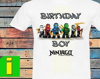 Ninjago Iron On Transfer, Ninjago Birthday Shirt Iron On Transfer, Ninjago Birthday Party Shirt Iron On , Instant Dowload, Digital File Only
