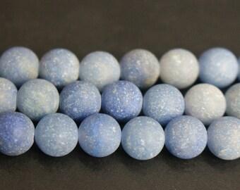 15 Inches Full strand,Blue Aventurine matte round beads 6mm 8mm beads,loose beads,semi-precious stone