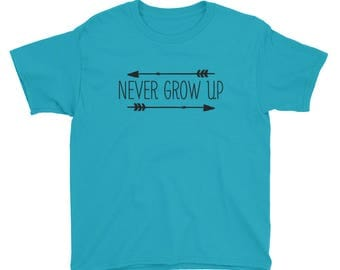 Never Grow Up Youth Short Sleeve T-Shirt