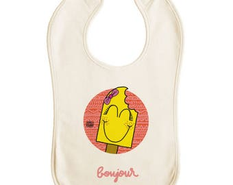 "Baby bib premium ""shoe girl"" nature"