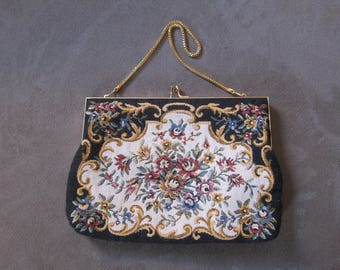 Vintage 1960's Tapestry Purse