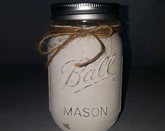 Hand painted and distressed Mason Jars