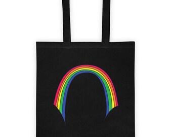 Wobbly Rainbow Tote Bag