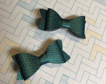St. Patrick's Day emerald green baby hair bows