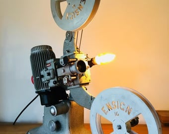 Upcycled Vintage 1950's Industrial Projector Lamp