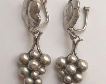Georg Jensen Moonlight Grapes Sterling Silver Earrings