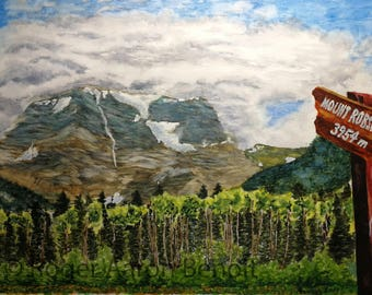 """12"""" x 18"""" Watercolor Print of Mt. Robson *Limited Quantities*"""