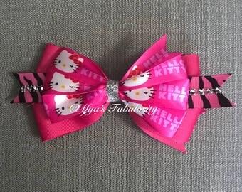 Hello Kitty Hair Bow / Hair Barrette