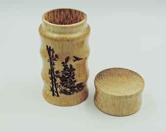 Coconut Wood Tea/Herbal Container & Storage