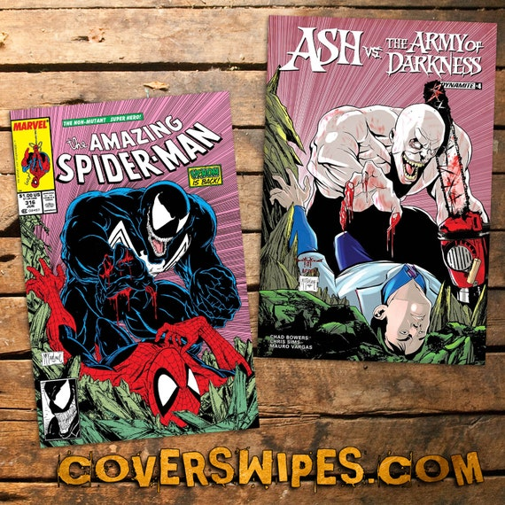 Ash VS The Army of Darkness - Amazing Spider-man #316 Cover Swipe