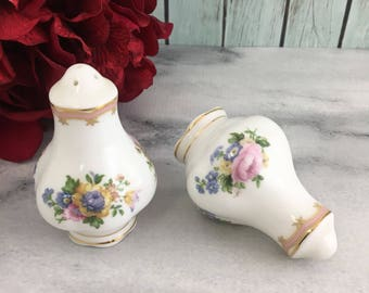 Royal Albert Lady Carlyle Salt and Pepper Shakers Set England Made Pink and Lovely