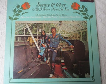 Vinyl Record Album Sonny & Cher All I Ever Need Is You, A Cowboys Work Is Never Done, MCA Records, Inc. 1972