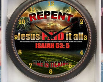 Repent Clock Decor wall Clock