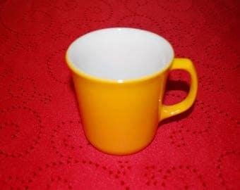 Vintage Corelle Corning Golden Yellow Milk Glass Cup