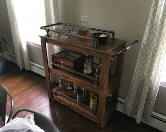 Bar and serving cart