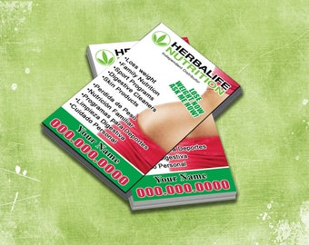 Herbalife Business Cards Etsy - Herbalife business card templates