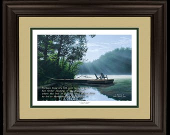"Personalized 11x14 ""Place to Ponder"" Framed Lithograph Memorial"