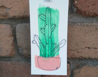 Spurge Cactus Original Artwork