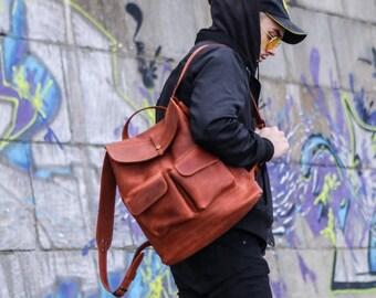 Leather Backpack, women leather backpack, leather rucksack, leather bag, leather backpack women, leather backpack men,