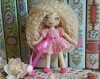 Crocheted Doll (12 cm) with folding arms and legs