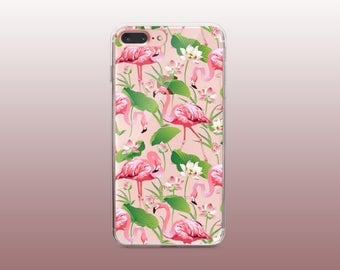 Flamingo Clear TPU Phone Case for iPhone 8- iPhone 8 Plus - iPhone X - iPhone 7 Plus-iPhone 7-iPhone 6-iPhone 6S-Samsung S8