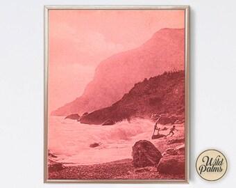 Vintage - Coastal Scene - Beach - Art Print